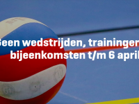 Alle wedstrijden en trainingen t/m 6 april ...